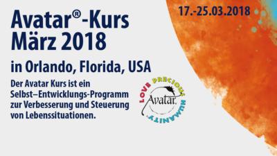 Avatar-Kurs im März 2018 in Orlando, USA - Aim For The Stars, Steffen Schojan, Avatar-Master