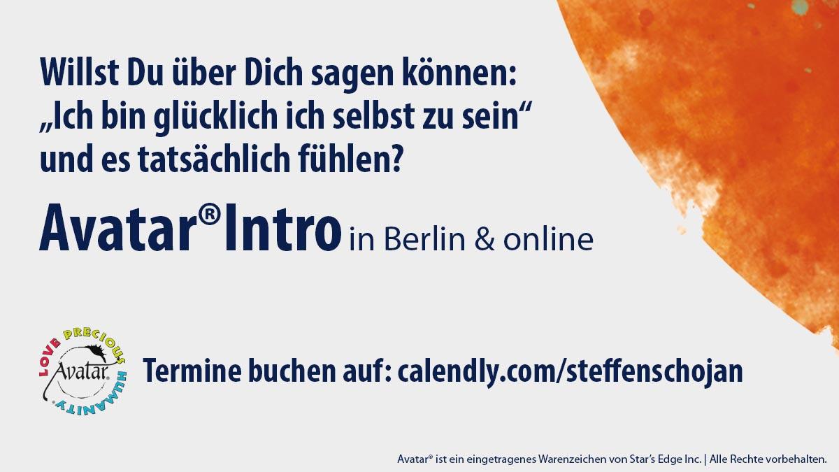 Avatar®-Intro in Berlin oder per Telefon, Whatsapp, Skype ... einfach einen Termin aussuchen!