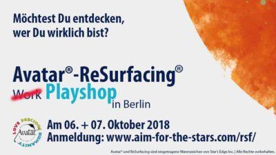ReSurfacing-Workshop im Okbtober 2018 in Berlin